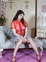 So Brianna wants a chat about her outfit; her kinky lingerie, nylons and blood red heels?