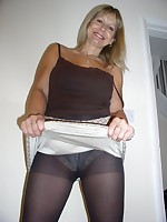 Take a look at my panties through my pantyhose
